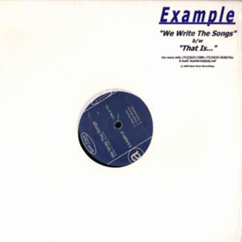 Example - We write the songs