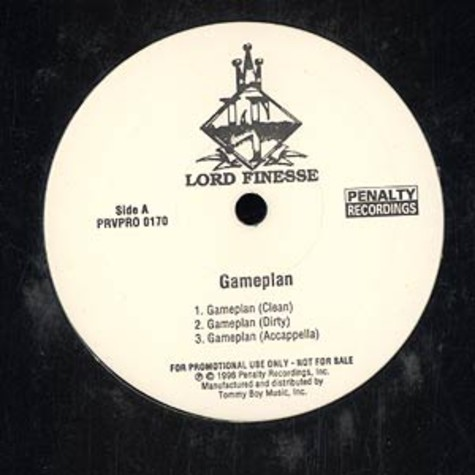 Lord Finesse - Gameplan / actual facts