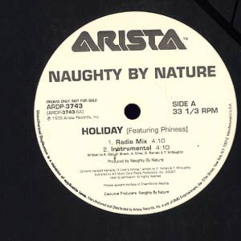 Naughty by Nature - Holiday feat. Phiness