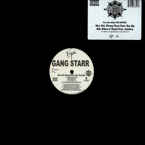 Gang Starr - Nice girl, wrong place feat. Boy Big
