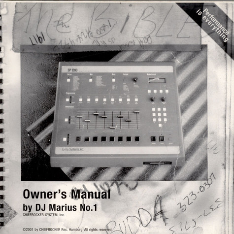 DJ Marius No. 1 - Owner's Manual