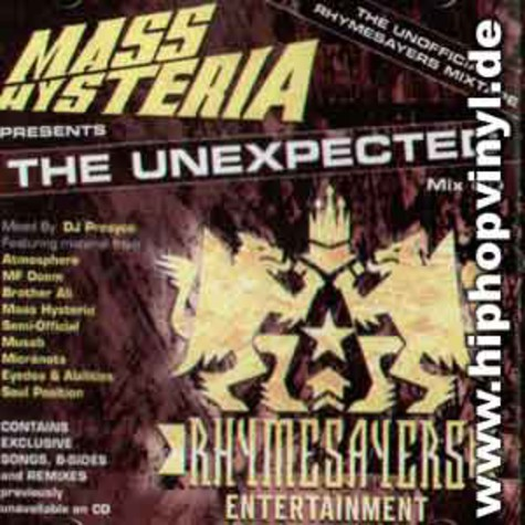 Mass Hysteria presents: - The unexpected - the unofficial Rhymesayers mixtape