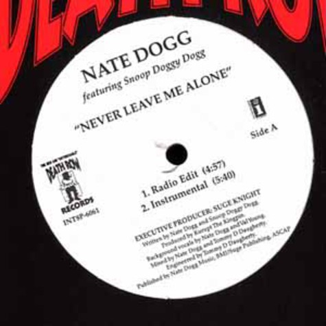 Nate Dogg feat. Snoop Dogg - Never leave me alone