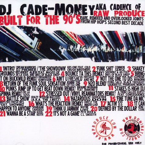 DJ Cade-Money (Cadence of Raw Produce) - Built for the 90s volume 1