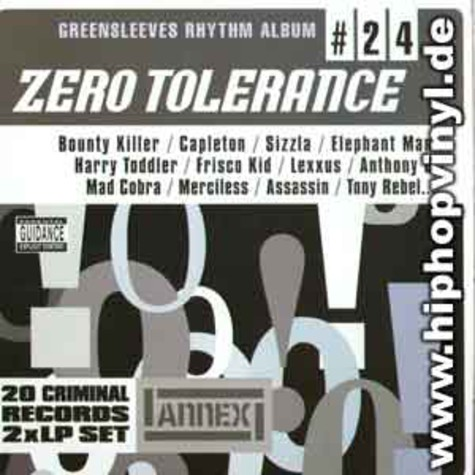Greensleeves Rhythm Album #24 - Zero tolerance
