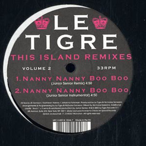 Le Tigre - This island remixes volume 2
