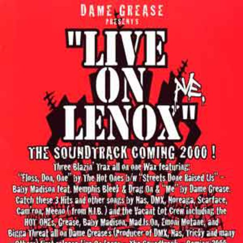 Dame Grease presents - Live on lenox ave