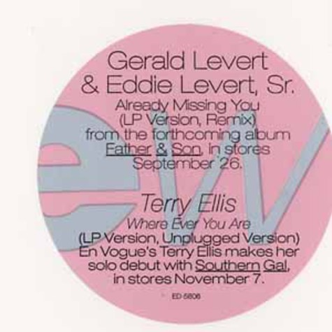Gerald & Eddie Levert - Already missing you