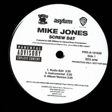Mike Jones - Screw dat