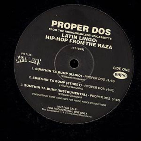 Proper Dos / Jew Lay - Sumthin ta bump / Ring my bell