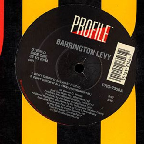 Barrington Levy - Don't throw it all away