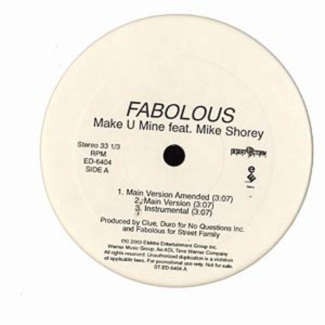 Fabolous - Make u mine feat. Mike Shorey