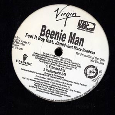 Beenie Man feat. Janet - Feel it boy Just Blaze remix