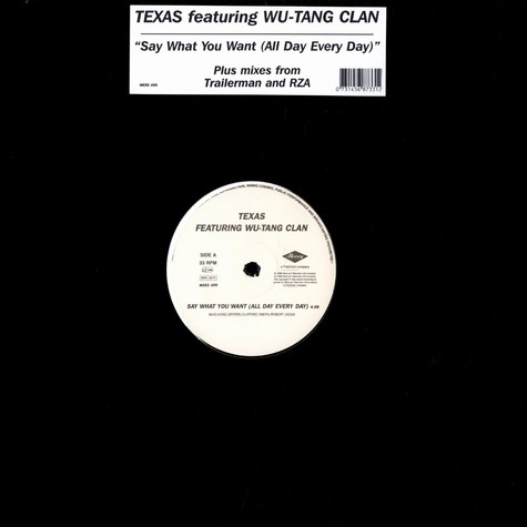 Texas - Say what you want feat. Wu-Tang Clan