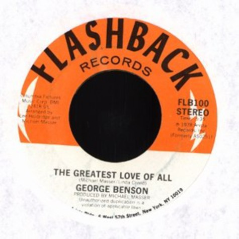 George Benson / Michael Masser - The greatest love of all / ali's theme