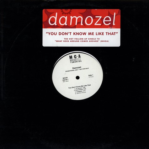 Damozel - You Don't Know Me Like That