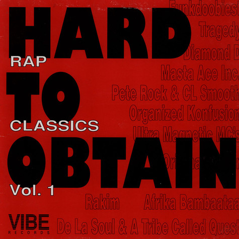V.A. - Hard to obtain rap classics volume 1