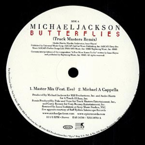 Michael Jackson - Butterflies Trackmasters remix feat. Eve