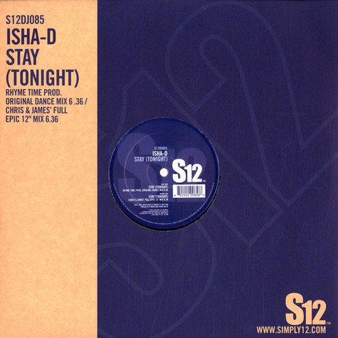 Isha-D - Stay (tonight)