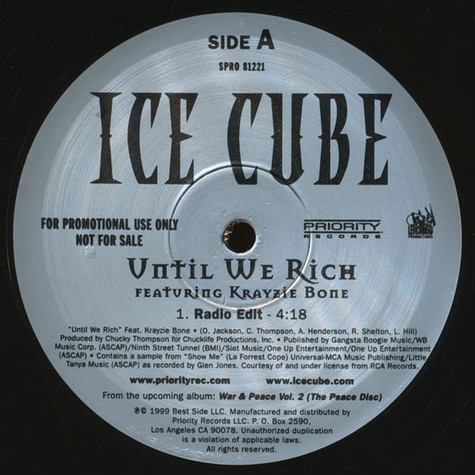 Ice Cube - Until we rich feat. Krayzie Bone