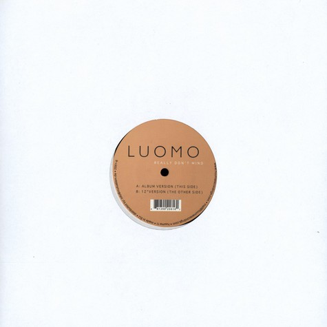 Luomo - Really don't mind