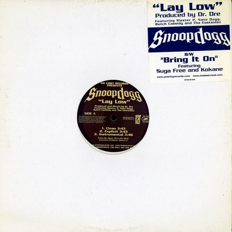 Snoop Doggy Dogg - Lay low feat. Master P & Nate Dogg