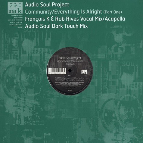 Audio Soul Project - Community / everything is alright part 1