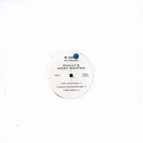 Phillys Most Wanted - A list DJ test press