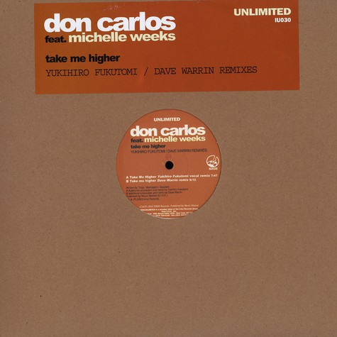 Don Carlos - Take me higher feat. Michelle Weeks