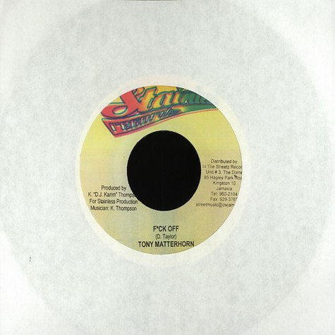 Tony Matterhorn / Pretty Don - Fuck off / m.o.b