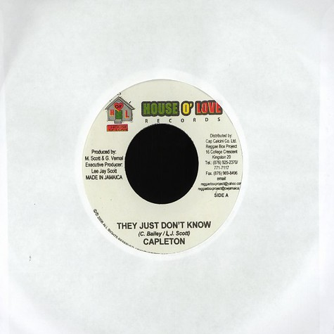 Capleton / Smoke - They just don't know / song for the poor