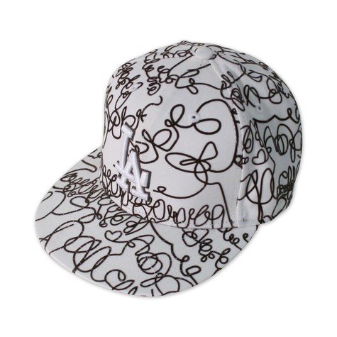 New Era - Scrawl whites LA cap