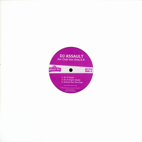 DJ Assault - For club use only EP