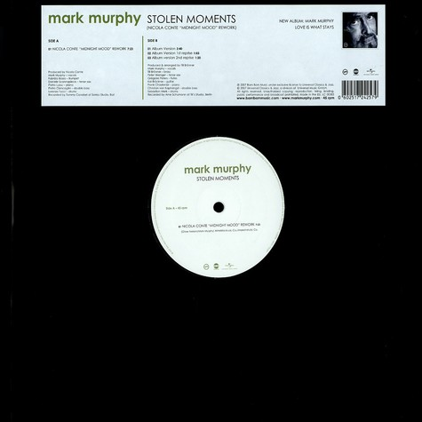 Mark Murphy - Stolen moments (Nicola Conta 'midnight mood' rework)