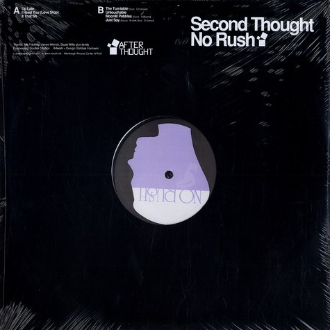 Second Thought - No rush EP