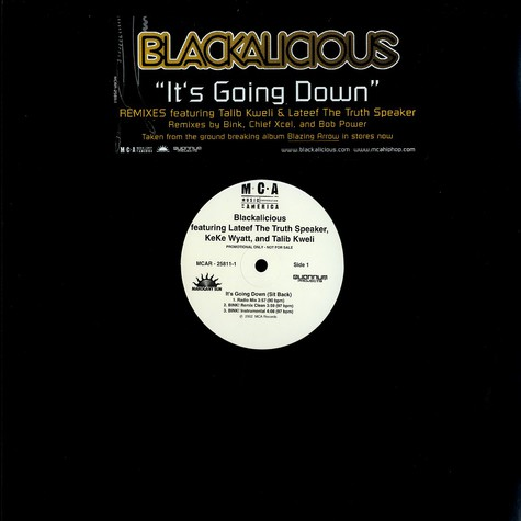 Blackalicious - It's going down feat. Talib Kweli, Lateef the Truth Speaker & Keke Wyatt