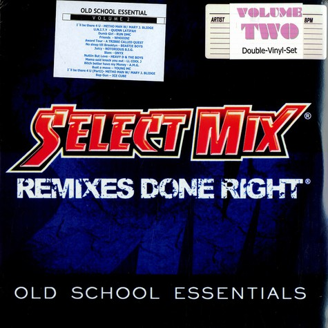 Select Mix - Remixes done right - old school essentials volume 2