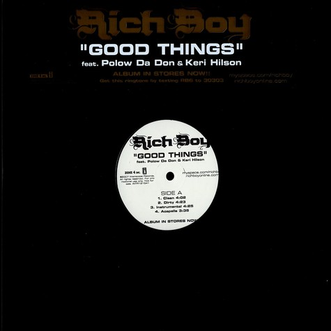 Rich Boy - Good things feat. Polow Da Don & Keri Hilson