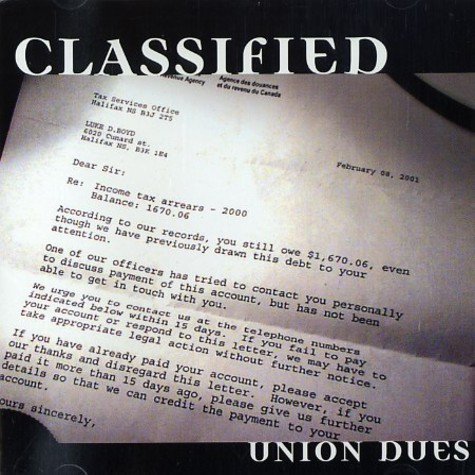 Classified - Union dues