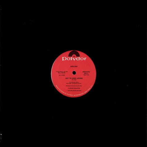 Don Ray - Got to have loving