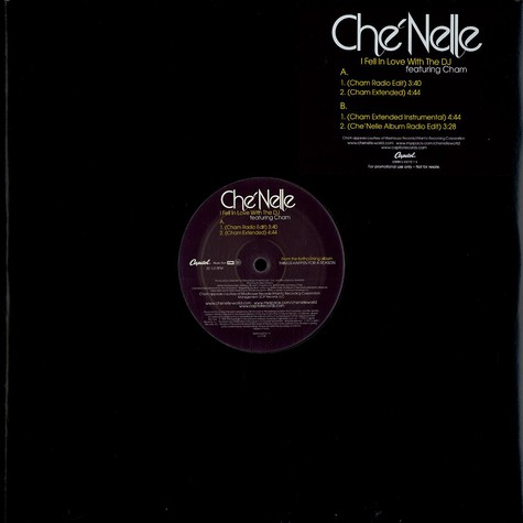 Che'Nelle - I fell in love with the DJ feat. Cham