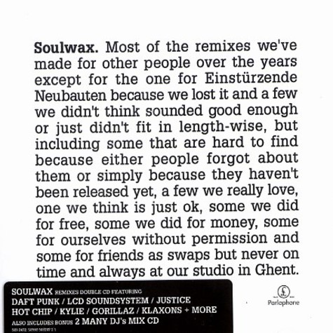 Soulwax - Most of the remixes