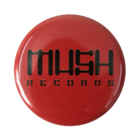 Mush records - Button red / black