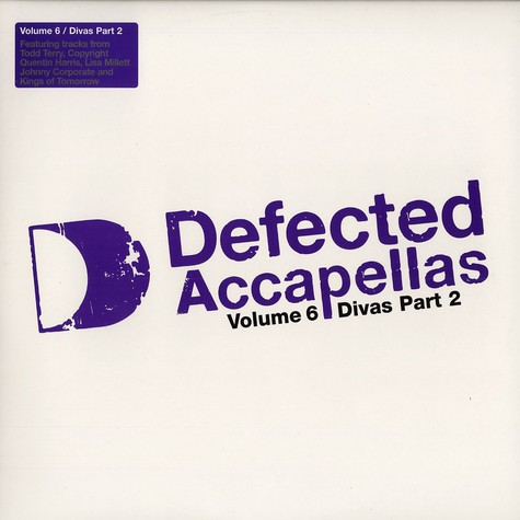 Defected Accapellas - Volume 6 - divas part 2
