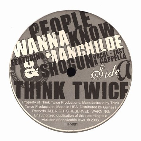 Think Twice of Specifics - People wanna know feat. Manchilde & Shogun