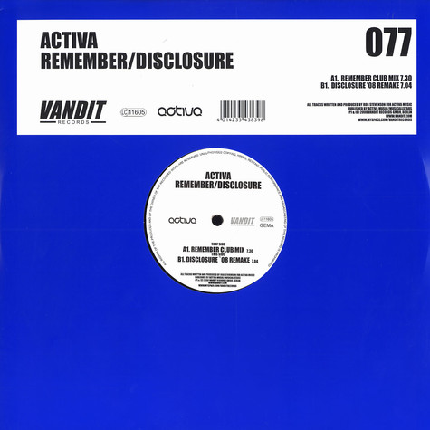 Activa - Remember / disclosure