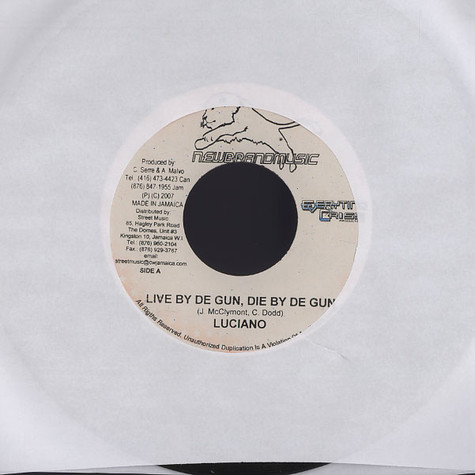 Luciano / Exco Levi - Live by de gun, die by de gun / They have to pay