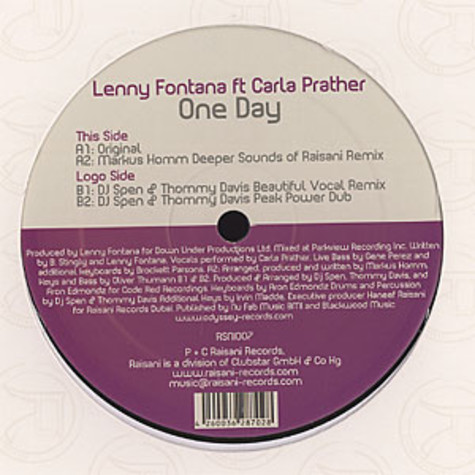 Lenny Fontana - One day feat. Carla Prather
