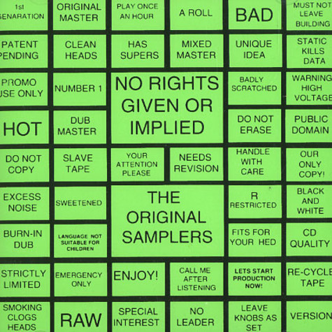 No Rights Given Or Implied - The original samplers
