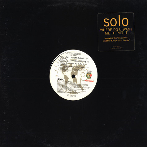 Solo - Where do u want me to put it
